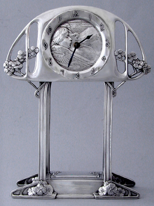 Kate Harris Silver clock. London 1900.